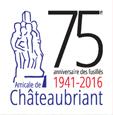 Logo 75e anniversaire fusillades
