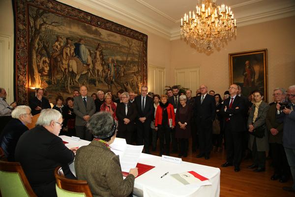 Les représentants des 18 musées.