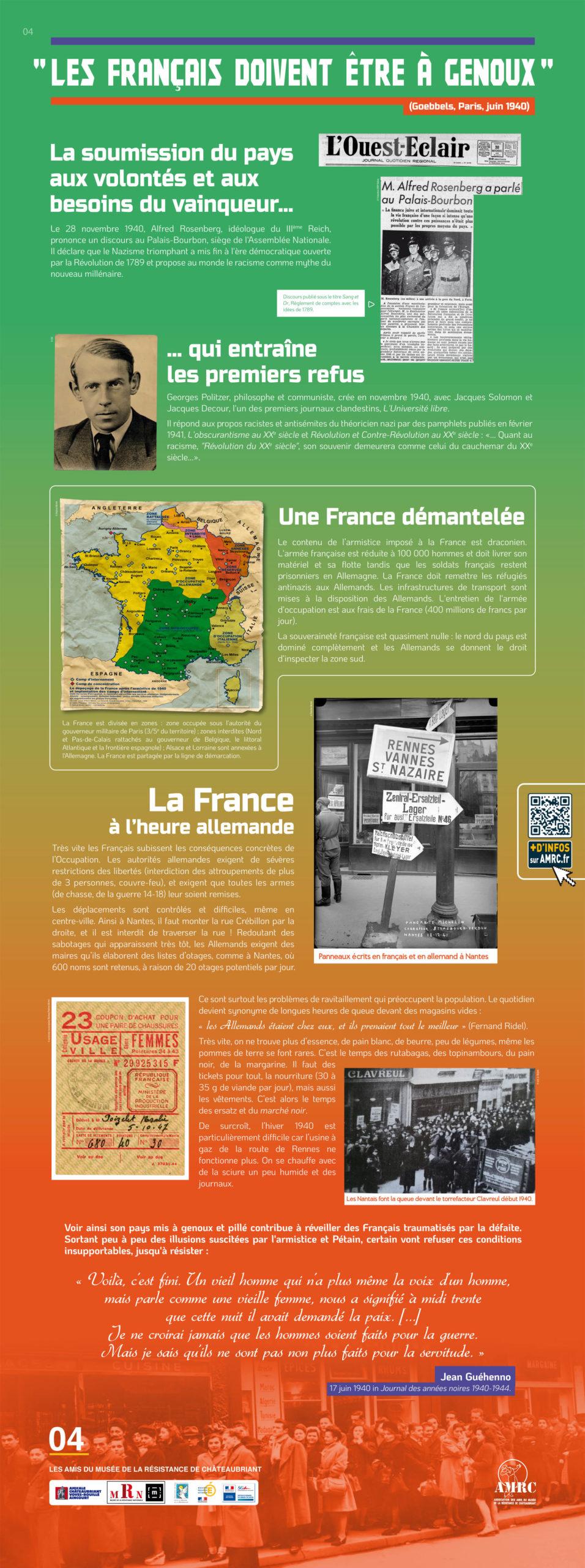 Panneau 4 : 1940, entrer en Résistance ?