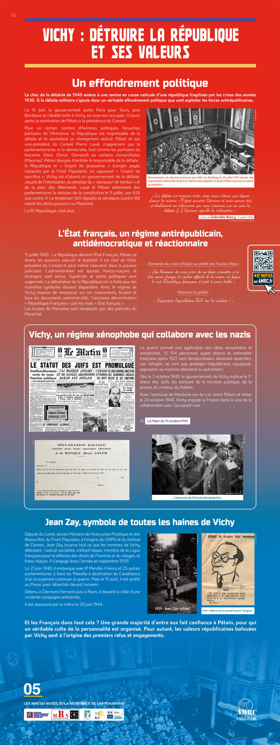 Panneau 5 : 1940, entrer en Résistance ?